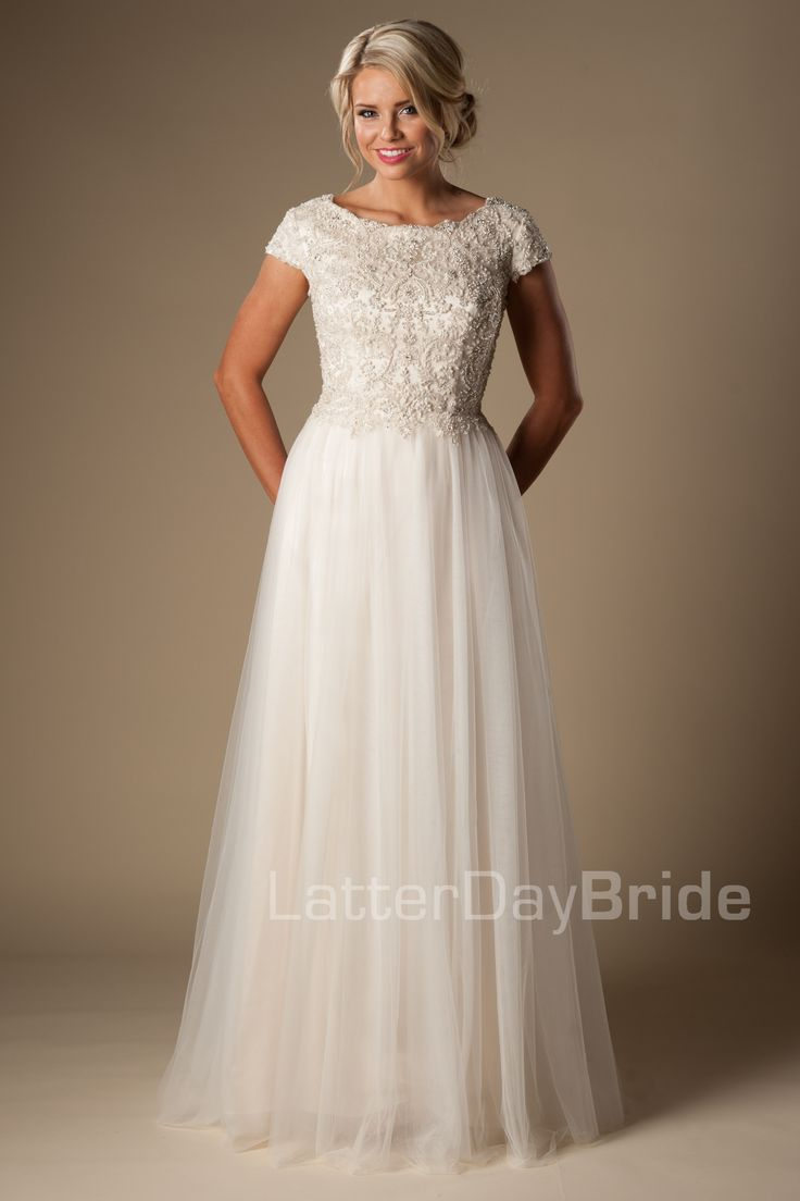 Cosette - beaded bodice - modest bridal gown - customizable - $1625 - found at Gateway Bridal in Salt Lake