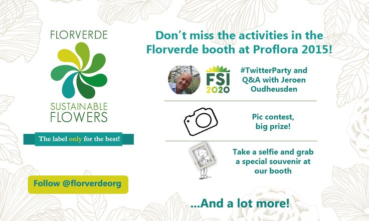Don't forget to visit our booth behind the registration area in the main entrance #Proflora2015