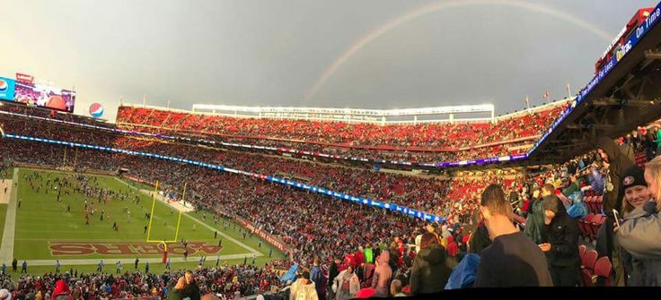 Rainbow comes out after the Patriots/49ers game 11/19/20