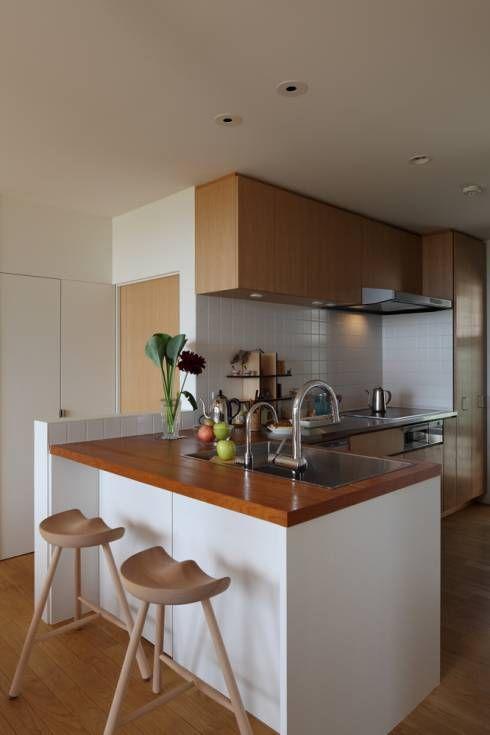 L字キッチンのメリット・デメリットまとめ集 メリット2:違う素材のキッチン台が可能