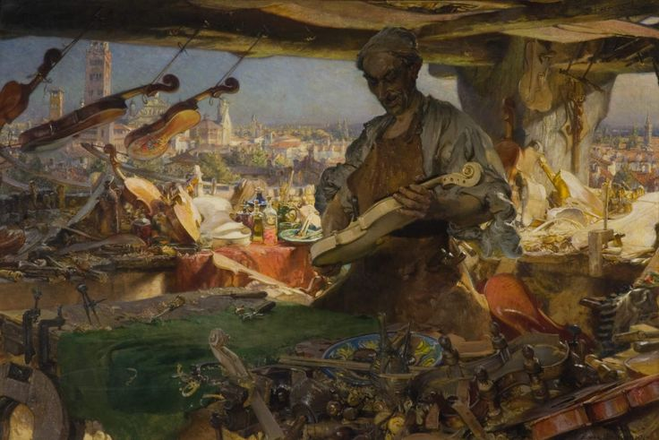 Stradivarius in his Workshop by Edgar Bundy, 1913.