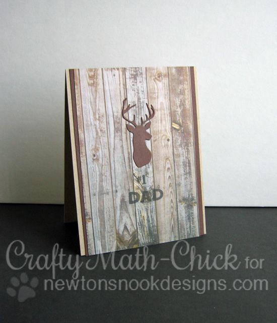 Dad Deer Card by Crafty Math-Chick   Splendid Stags Die set by Newton's Nook Designs #newtonsnook
