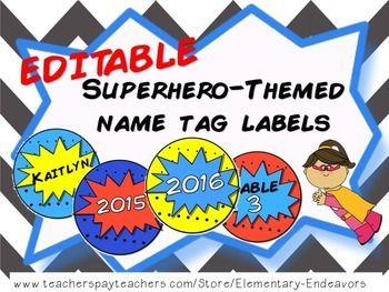 Have fun with these editable circular name tags and display them on your classroom bulletin board, door, student desks, or cubbies! • PLEASE NOTE: Until you download the Comic Book font, the names on the labels will use a font such as Arial. Directions for