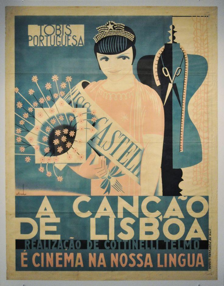 """FB / Museu Calouste Gulbenkian - José de Almada Negreiros Cartaz para o filme """"A Canção de Lisboa"""" realizado por Cotinelli Telmo  Poster for the film """"A Canção de Lisboa"""" directed by Cotinelli Telmo, 1933"""