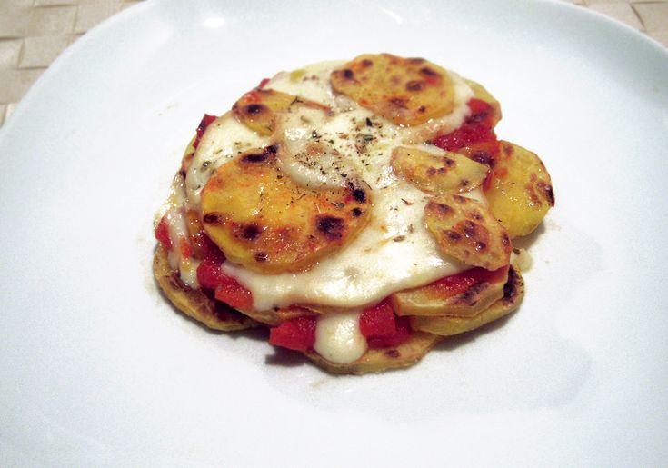 tortino di patate e scamorza