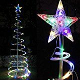 Triprel Inc 6' Color Changing LED Spiral Tree Lights Outdoor/Indoor Holiday Christmas D