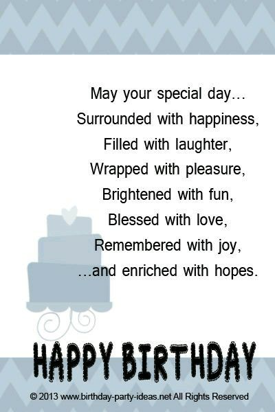 Best 25 Birthday verses ideas – Birthday Greeting Poems
