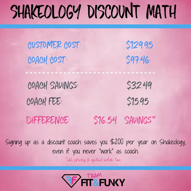 Shakeology Discount Math   shakeology   beachbody   beachbody coach   health and fitness   healthy living   smoothie   shakes   meal replacement   healthy snack   vegan shakeology   shakeology recipes   weight loss   savings   fitness coach   challenge pack   coach vs customer sign up