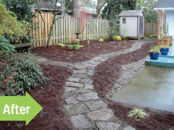 Before After A Muddy Backyard Transformed Garden Pinterest And Yard