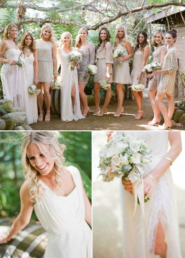 Boho blushing bride
