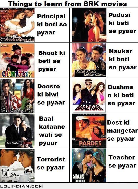 best Bollywood Memes SRK Shahrukh Khan