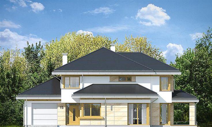 Elewacja frontowa projektu Dom z widokiem 5