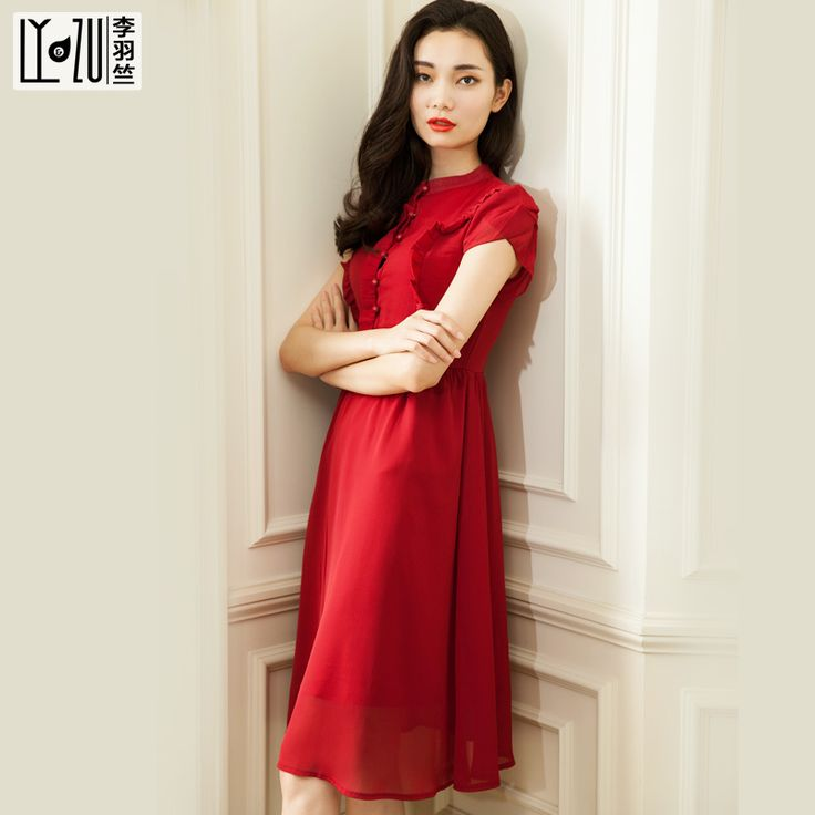 Vintage  red dress, elegant style..