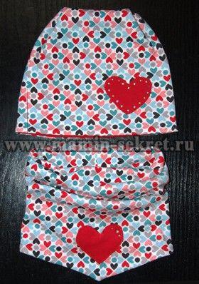 как сшить трикотажный шарф снуд для ребёнка своими руками