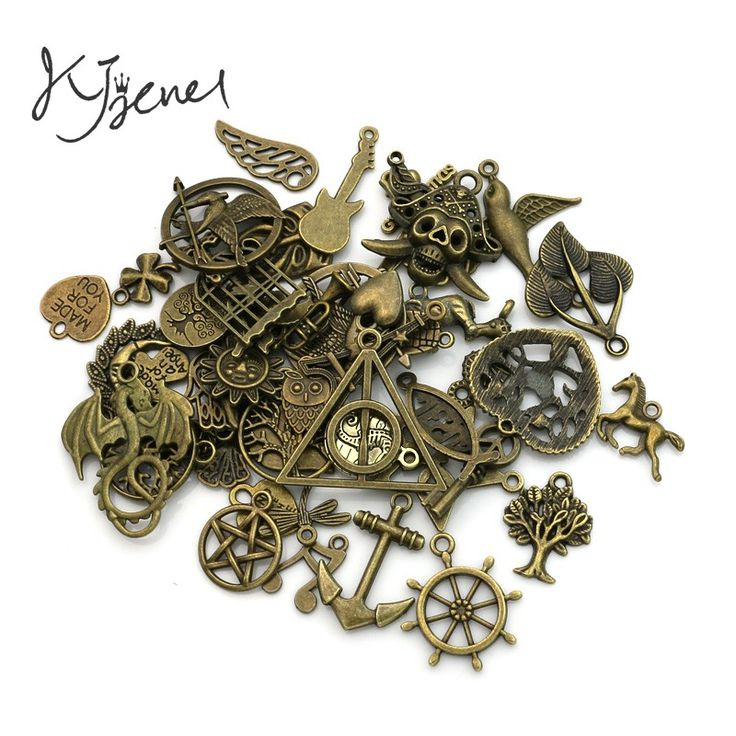 Mixed Antique Bronze Plated Anchor Star Tree of Life Charms Pendants for Necklace Bracelets Jewelry Making DIY Handmade