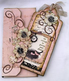 Snazzy's Design Team Blog: Design Team Project #1 featuring Prima Almanac Collection (by Lesley)