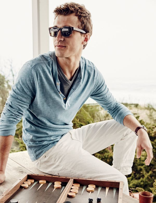 Introducing the J.Crew men's made-in-LA garment-dyed henley.