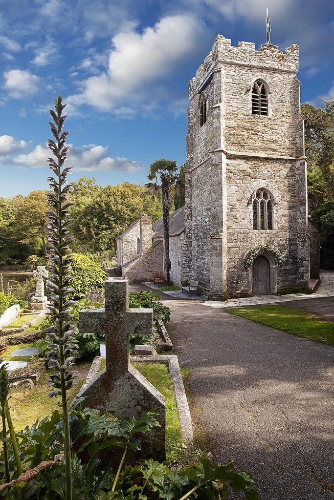 St Just church The Roseland peninsula Cornwall