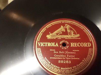 1912-Patent-VICTROLA-1-Sided-12-78-Geraldine-Farrar-Soprano-w-Victor-Orch-E