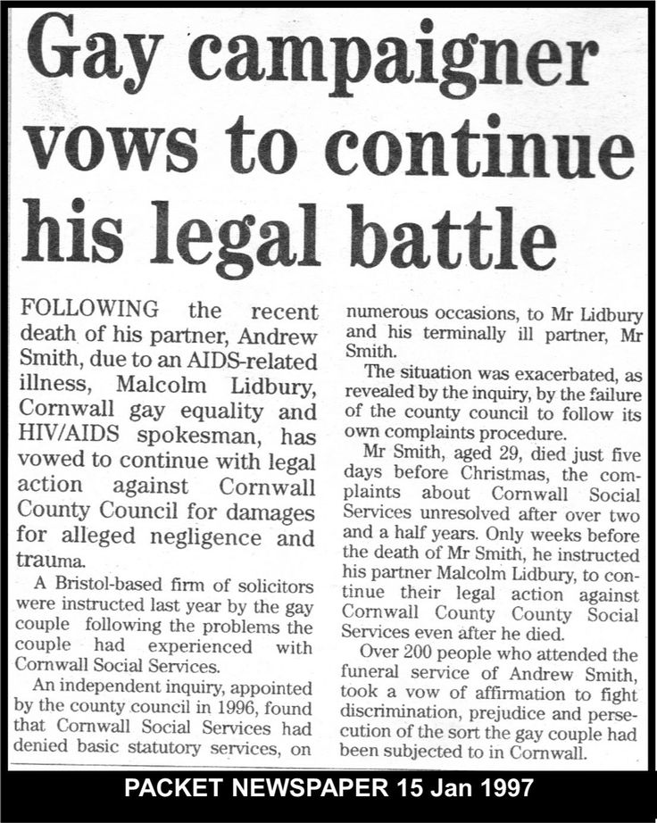 On the death of Andrew Cornwall Social Services expected the enquiry into their failure to provide statutory services to go away & end.  #LGBT  http://www.lgbthistorycornwall.blogspot.com