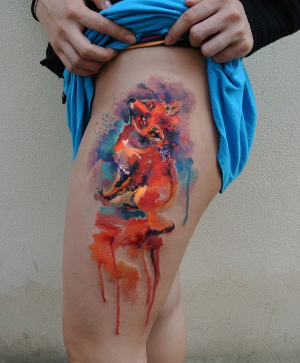 Best Tattoo Images On Pinterest Body Painting Cool Tattoos - Artist creates amazing animal tattoos with digital pixel glitches