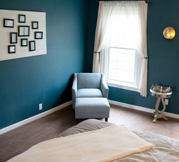 1001 id es pour une chambre bleu canard p trole et paon for Bedroom decoration in bd