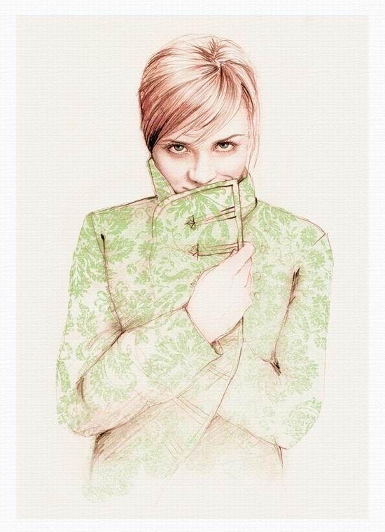Портреты девушек от художника Bec Winnel