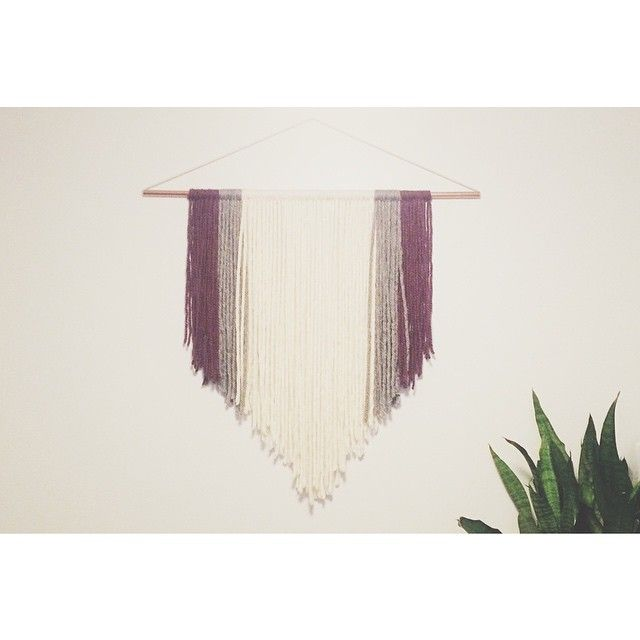 Yarn hangings are perfect for behind bars or head tables. And this one is up for the renting! #yegweddings #neatthings #yarn #macrame