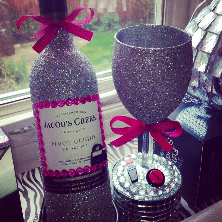 Glitter Wine Bottle, Must Have!x