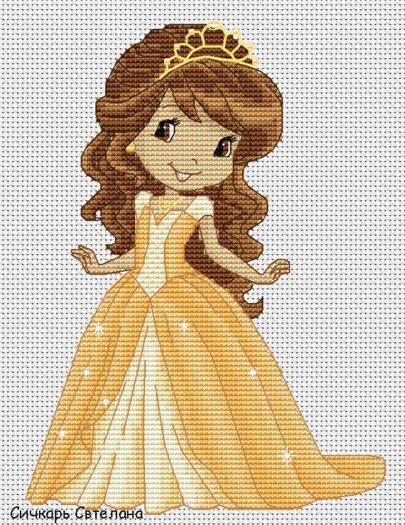 Gallery.ru / Принцесса Апельсинка - Персонажи мультфильмов (платно) - Sichkar
