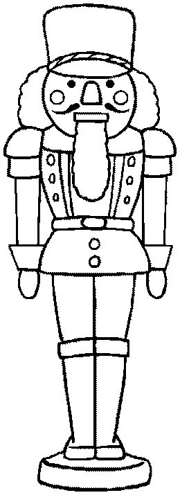 Nutcracker Coloring Sheets | colored for personal educational or non commercial use wooden soldier