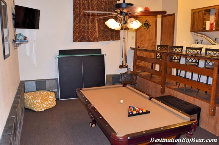 12 best big bear cabins with game rooms images on for Big game room