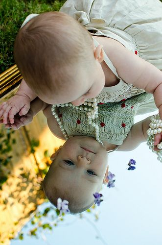 Six Month Baby Photo: My Reflection