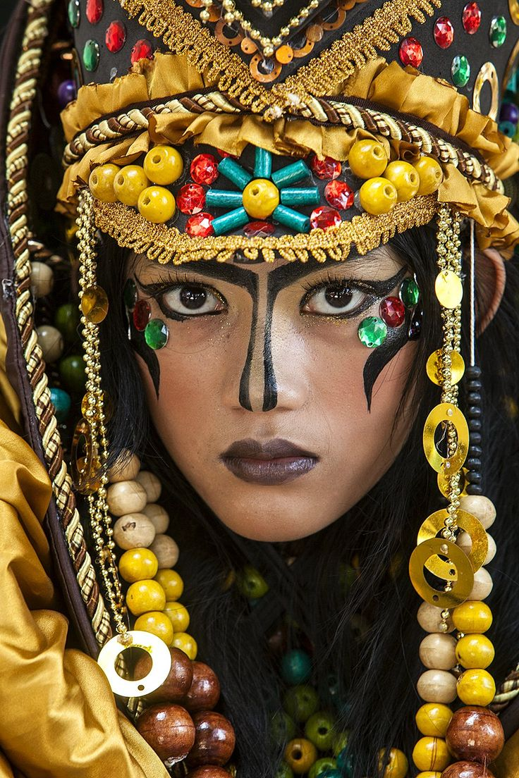 Jember Fashion Carnival, East Java #world #cultures - faces of the people More