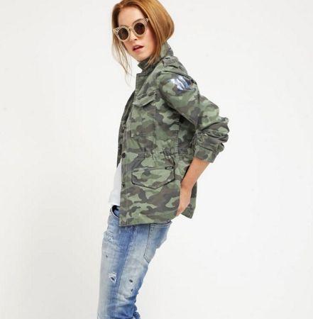Replay CAPSULE Kurtka wiosenna camouflage