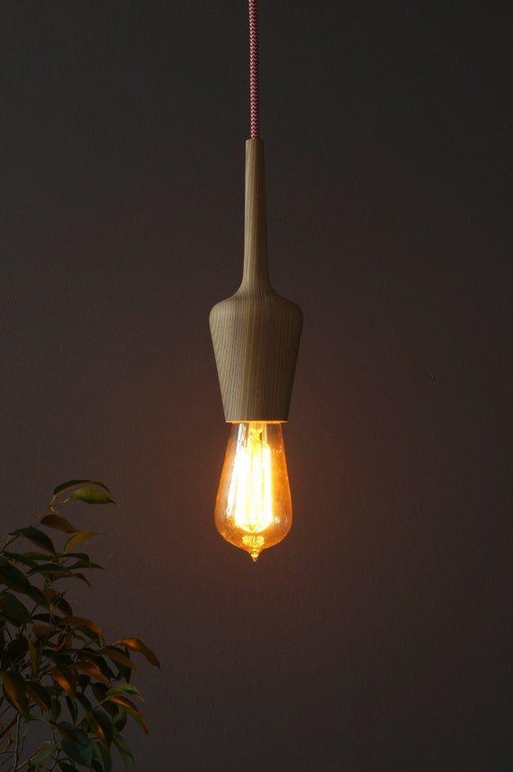 Pendentif En Bois Kit 02 Minimal Design Lumieres Suspendus Qui