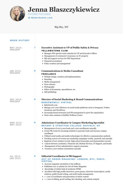 executive assistant to vp of public safety & privacy Resume example