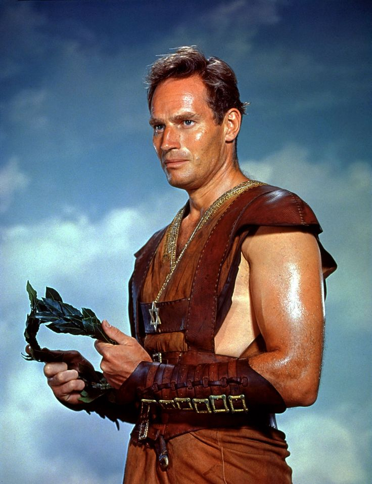 "Charlton Heston as Judah Ben-Hur in ""Ben-Hur"" (1959). Director: William Wyler."