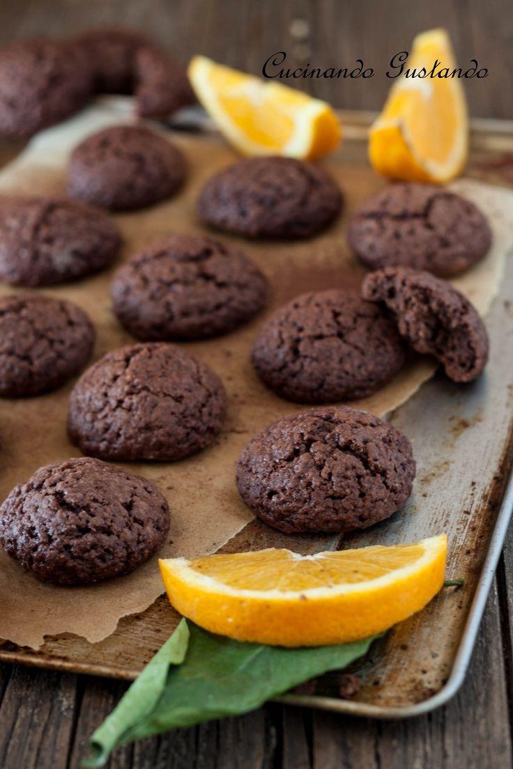 Biscotti cioccolato arancia morbidi
