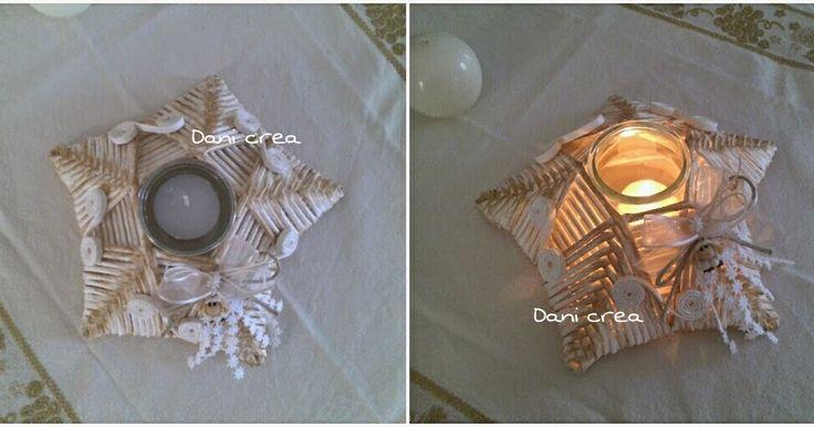 Ho realizzato questa stella con le cannucce  di carta , e la trovo molto elegante come centro tavola natalizio ....quindi se volete pro...
