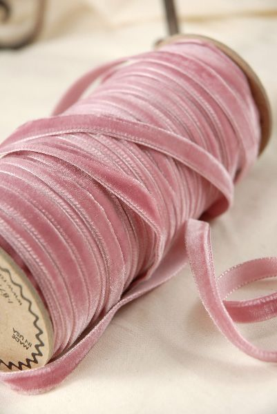...with yards of Austrian victorian rose pink velvet ribbon