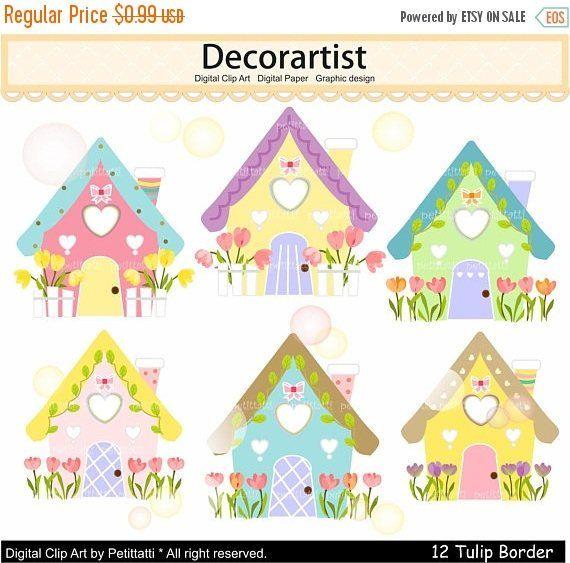 On Sale Summer House Clip Art House Clip Art Cute Easter Summer House Clipart Scrapbooking Digital Clip Art Clip Art Digital Clip Art Christmas Quilt Blocks