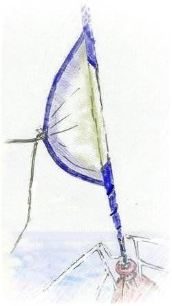 UV strip on furling head sail