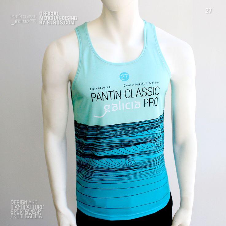 Tank Top PANTÍN (Verde). Camiseta de tirantes (Tank Top) oficial PANTIN CLASSIC PRO, evento 27 en color verde.