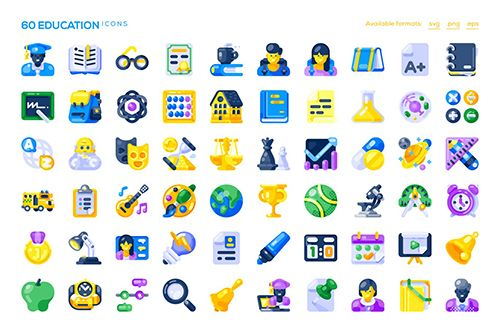 60 Education Icons Free Download