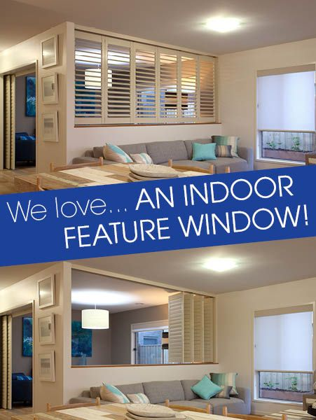 Indoor shutters create a beautiful, coastal look for your home.