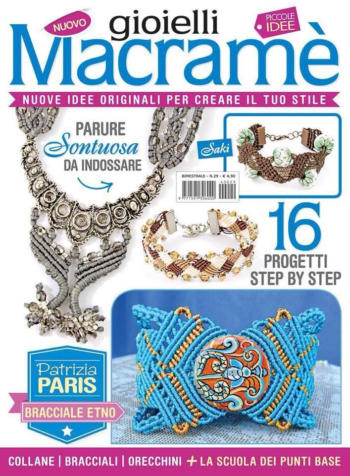 La rivista di gioielli a Macrame' con il bracciale Saki da me realizzato.