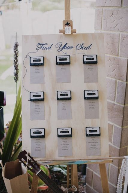 Music Themed Seating Chart | 7 Pretty Perfect Seating Chart Ideas