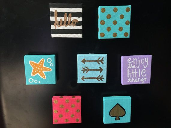 Best 25 small canvas art ideas on pinterest small for Things to do with mini canvases