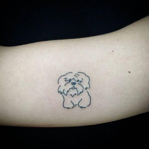 Coloriage Chien Lhassa Apso.20 Lhasp Aspo Dog Outline Tattoos Simple Ideas And Designs